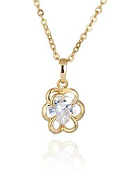 Women's New Arrival Hot Selling Sweet Flower Design Zircon Necklace