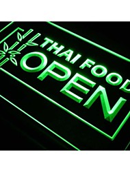 j705 Thai Food OPEN Cafe Restaurant Neon Light Sign
