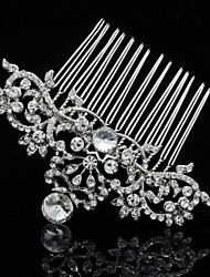 8cm Clear Rhinestone Hair Comb Tiara Wedding Bridal Jewelry Accessories for Party