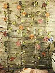 parede de metal decoração da parede arte, as flores na decoração da parede muro