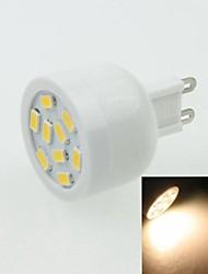 g9 3w 9LED 5730smd 180-240lm 3000-3500K AC220-240V projecteur blanc chaud - blanc argent