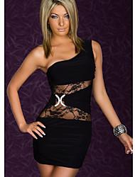 n&é sexy vestido de renda das mulheres bodycon