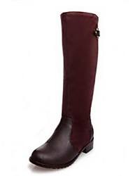 Women's Shoes QQ Fashion Low Heel Leather Knee High Boots More Colors available