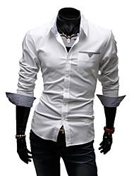 LangTuo Schlank Langarm-Shirt (weiß)
