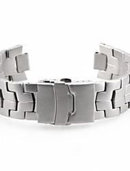 Unisex Steel Watch Band Strap 22MM (Silver)