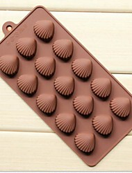 5 Hole Xian Bei Burn Shape Cake Ice Jelly Chocolate Molds,Silicone 21.5×10.5×1.8 CM(8.5×4.1×0.7 INCH)