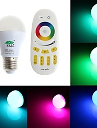 Zweihnder   E27 6W 450lm 6000-6500K 2.4GHz RF Transmission LED Bulb RGB Light with Remote Control (AC 85-265V)