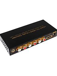 hd1080p hdmi entrada hdmi decodificador de audio con adaptador convertidor ajuste edid audio, 5.1digital decodificador SPDIF 3.5