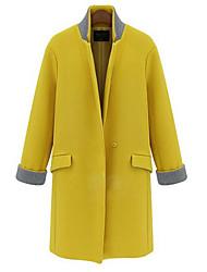 Melantha simple boutonnage long manteau gaine