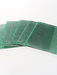 double face 2,54 mm pcb 5 x 7cm protoboard - vert (5pcs)