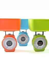 vierkant voedsel keukenweegschaal 1000kg / 5g willekeurige kleur, kunststof 15x8.5x17cm