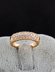 Women's Fashion SimpleDesign 18K Gold Zircon Ring