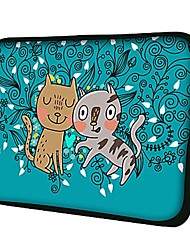 "Elonno Kitten Doggie 15"" Laptop Neoprene Protective Sleeve Case for Macbook Pro Retina Dell HP Acer"
