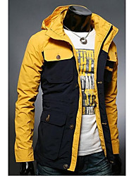 Men's Hoodie Slim Color Matching More Pocket Jacket