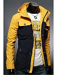Men's Hoodie Slim Color Matching More Pocket Jacket