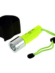 CREE XM-L T6  Rechargeable LED Waterproof Diving Flashlight Bracelet Dive Light (1600LM, 1x18650, Yellow)