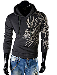 REVERIE UOMO Man's Floral Print Hoodie Silm dress Tops