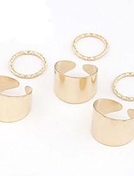 métal élégant concis six pièces ensemble d'anneau (plus de couleurs)
