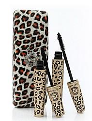 AMOR ALPHA Leopard Caso transplante Gel e Fibra Natural Mascara Set