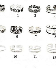 Women's Body Jewelry Toe Rings Cuff Ring Unique Design European Vintage Costume Jewelry Fashion Alloy Flower Jewelry Jewelry For Party