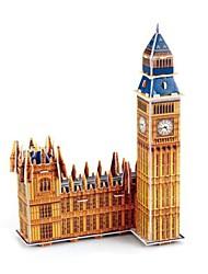 Jigsaw Puzzles 3D Puzzles Building Blocks DIY Toys Famous buildings Paper Brown Model & Building Toy
