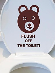 Cartoon Little bear Toilet Posted Toilet Sticker