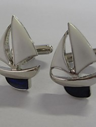 Groom/Groomsman Sailing Boat Brass Cufflinks