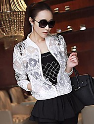 encaje con incrustaciones de diamantes perspectiva aire acondicionado camisa de vestir exteriores de las mujeres