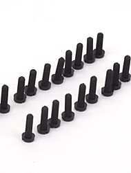 ZnDiy-BRY R205-306 M3 x 6 Plastic Nylon Screws for Multicopter Flight - Black (20 PCS)