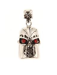 ZP 8GB Silver Skull Pattern Bling Diamond Metal Style USB Flash Drive