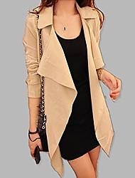 Women's New Fashion Long Sleeve V Neck Coat
