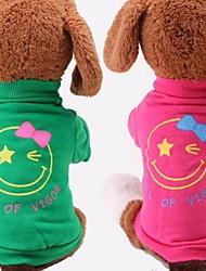 algodón de moda patrón de la cara sonriente cómoda para la ropa del perro mascota (una variedad de colores y tamaño)
