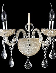 Crystal Wall Sconces/Candle Wall Lights/Reading Wall Lights , Modern/Contemporary E12/E14 Metal