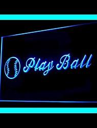 Baseball Play Ball Advertising LED Light Sign,110-120V