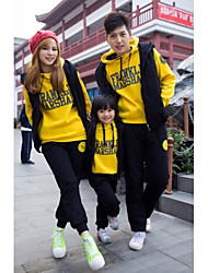 Family's Fashion Joker Leisure Parent Child Long Sleeved Exercise Three Piece Clothing Set