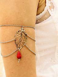 Shixin® Fashion Leaf Red Resin Tassel Arm Chains(1 Pc)