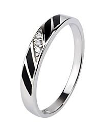 i free®unisex Rhodium S925 silber Paar Ringe 1 pc / promis Ringe für Paare