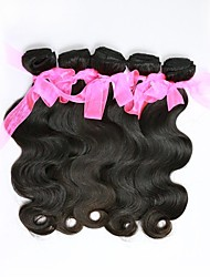 28inch 1Pcs/Set  Great 6A Natural Black 100% Brazilian Virgin Human Hair Body Wave Hair Weave