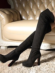 Women's Shoes Round Toe Chunky Heel Over Knee High Boots