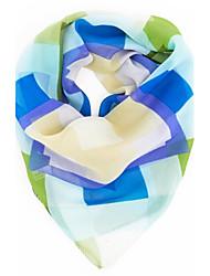 geometria impressão chiffion bandana quadrado lenço das mulheres
