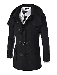 Mens Removable Hood Zipper  Coat