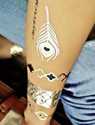 Metallic gold schwarz und silber Tattoo-Aufkleber-temporäre Tätowierung 1pcs Schmuck inspiriert Ringe