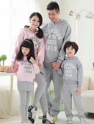 Family's Fashion Leisure Parent Child Long Sleeve Hooded Exercise Clothing Set