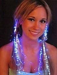 Flicker Hairpin Optical Fiber Design Plastic Night Light (1pcs, Random Color)