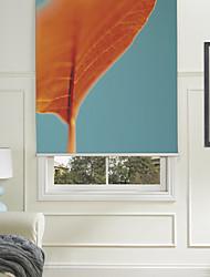Botanic Style Orange Flower Roller Shade