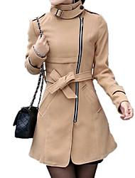 Women'S Sheath Mid-Long Trench Coat