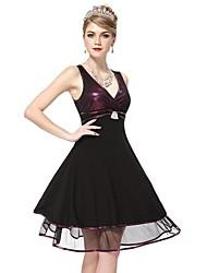 nuevo vestido de cóctel púrpura de la moda fabulosa de la mujer cada vez pretty®