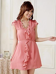Women's Party / Plus Sizes Dress Knee-length / Above Knee Chiffon