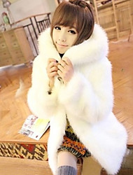 XT Korean Style Hoodie Fur Coat_148 (White)