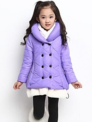 Girl's Cotton Blend/Polyester Down & Cotton Padded/Jacket & Coat , Winter/Fall Long Sleeve
